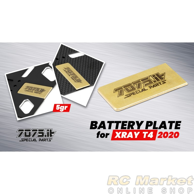 7075.it T20-03 5gr Battery Plate for Carbon Chassis