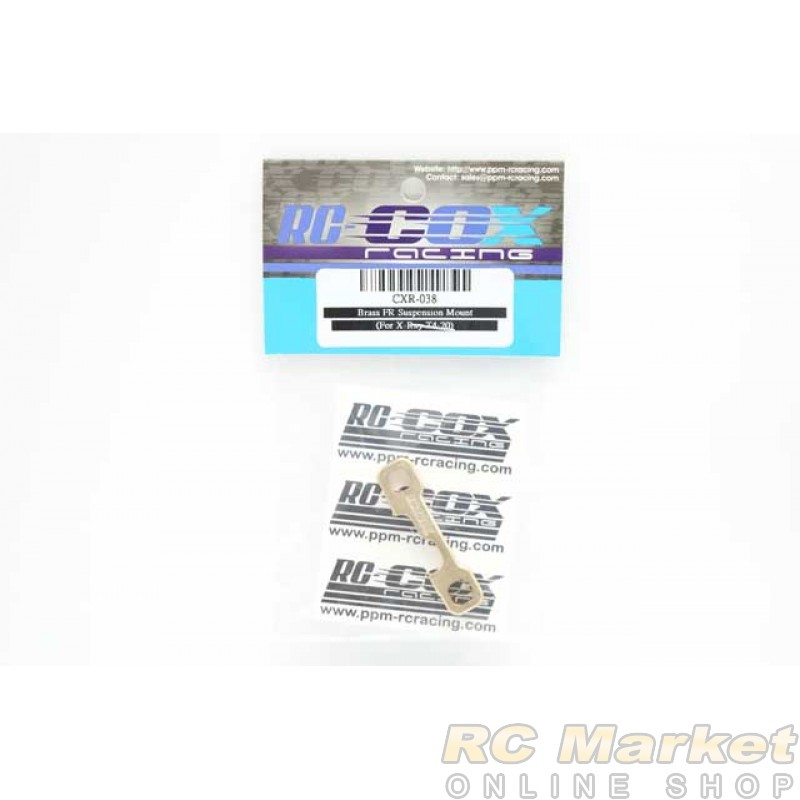 RC-COX CXR-038 Brass FR Suspension Mount (For Xray T4'20)