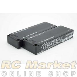 NOSRAM 999657 HV LCG Modified Graphene-4 6700mAh 7.6V LiPo 120C/60C Hardcase x2 pack