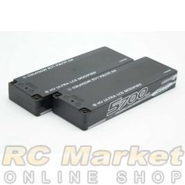 NOSRAM 999658 HV Ultra LCG Modified Graphene-4 5700mAh 7.6V LiPo 120C/60C Hardcase x 2pack