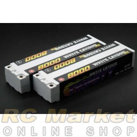 TRINITY TEP2317 White Carbon 2S 7.4V 6000mAh 100C Slim Pack With 5mm Bullet x 2Pack (Free Shipping)