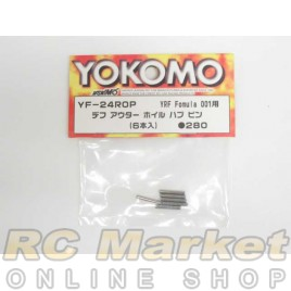 YOKOMO YF-24ROP Outer Wheel Hub Pins for YRF Formula 001 (6)