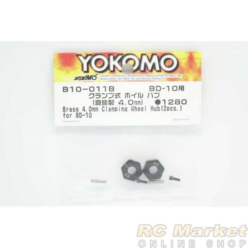 YOKOMO B10-011B Brass 4.0mm Clamp Wheel Hub (2pcs) for BD10