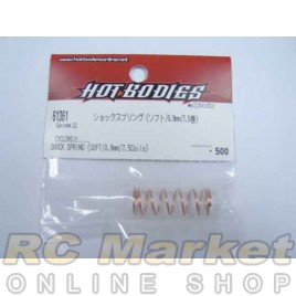 HOT BODIES 61361 Shock Spring (Soft / 0.9mm / 7.5 Coils)