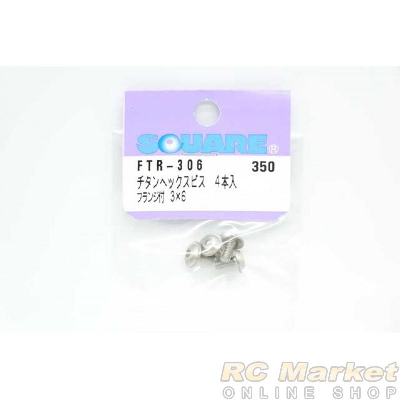 SQUARE FTR-306 3×6 Titanium Hexagon Flange Screw (4 pcs)