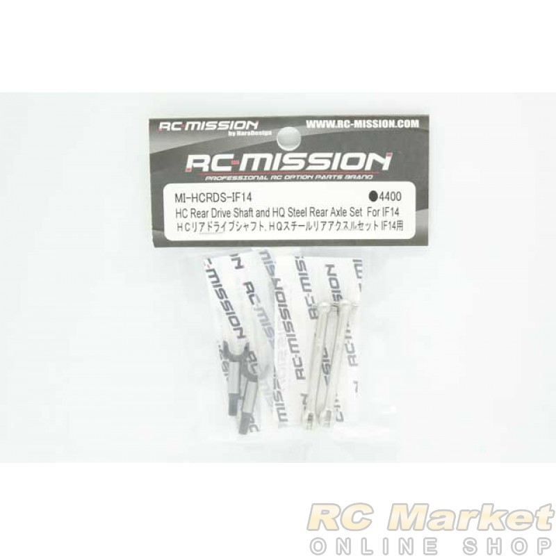 RC MISSION MI-HCRDS-IF14 HC Rear Drive Shaft and HQ Steel Rear Axle Set For IF14
