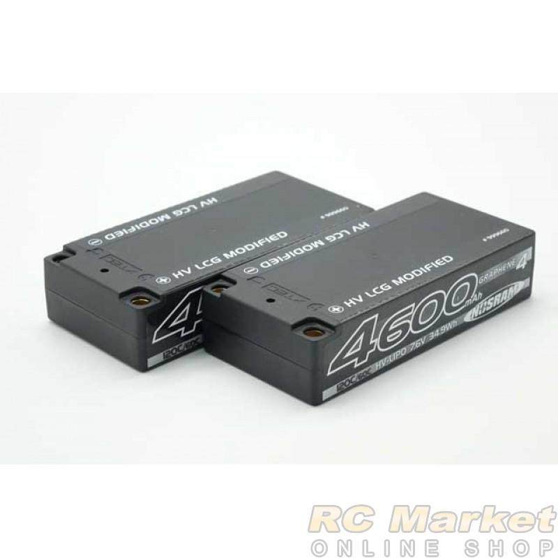 NOSRAM 999660 HV LCG Modified Shorty Graphene-4 4600mAh 7.6V LiPo 120C/60C Hardcase x2 pack