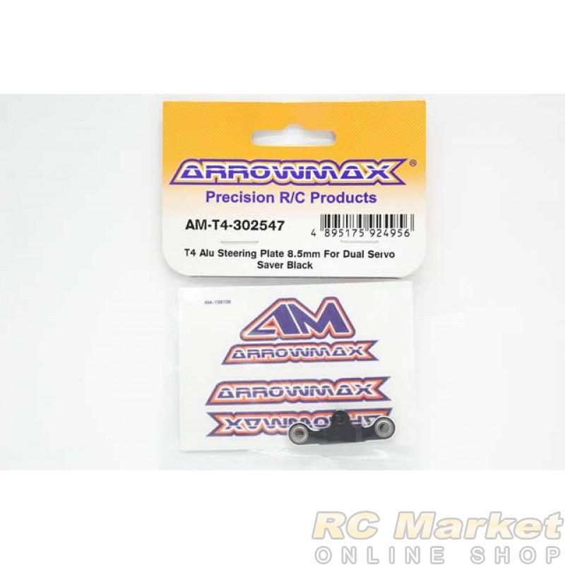 ARROWMAX T4-302547 T4 Alu Steering Plate 8.5mm For Dual Servo Saver Black