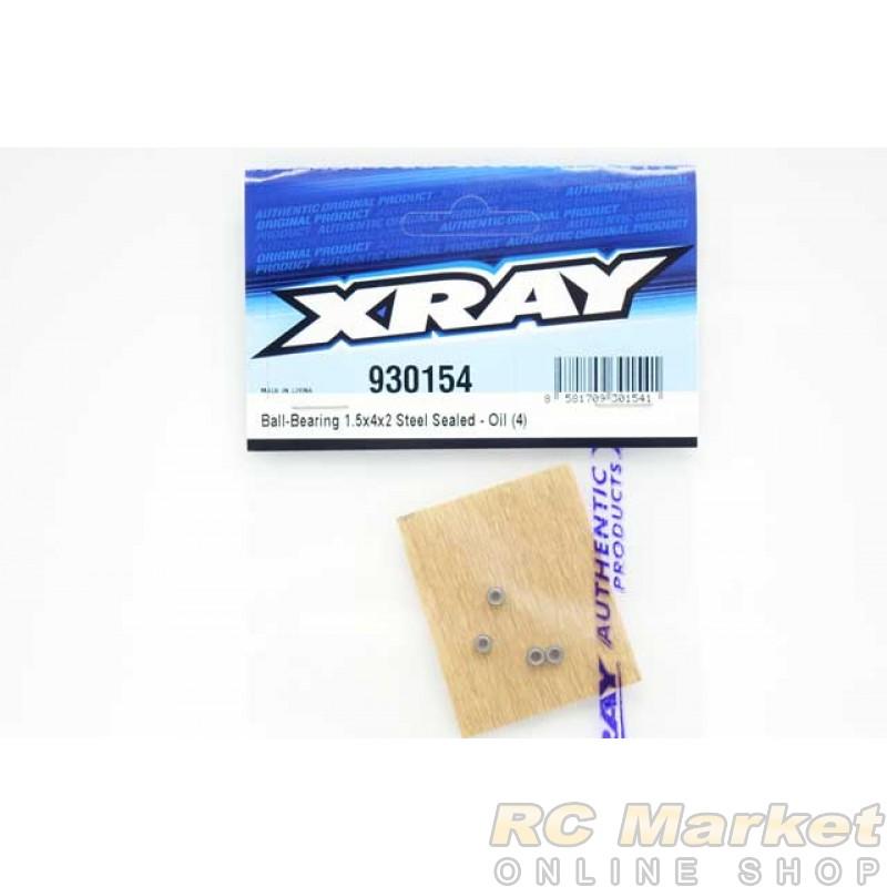 XRAY 930154 Ball-Bearing 1.5x4x2 Steel Sealed - Oil (4)