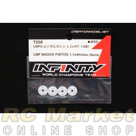 INFINITY T208 IF14-2 USP Shock Piston 1.1 x 4 Holes (4 pcs)