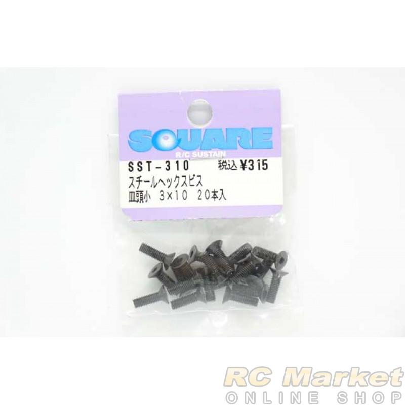 SQUARE SST-310 3x10 Steel Hex Flat Head Screw (20 pcs)