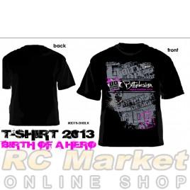 BITTYDESIGN BDTS-BHBLK-M Birth of Hero Black T-Shirt, 2013 Collection (M)