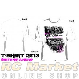 BITTYDESIGN BDTS-BHWHI-XL Birth of Hero White T-Shirt, 2013 Collection (XL)
