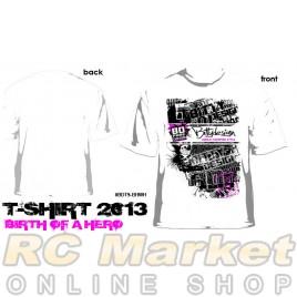 BITTYDESIGN BDTS-BHWHI-L Birth of Hero White T-Shirt, 2013 Collection (L)