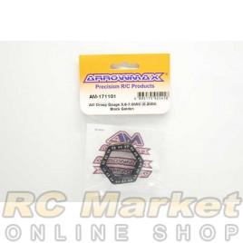 ARROWMAX 171101 AM Droop Gauge 3.6-7.0mm (0.2mm) Black Golden