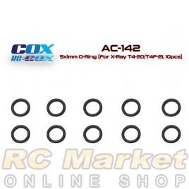 RC-COX AC-142 5x1mm O-Ring (For Xray T4'20/T4F'21, 10pcs)