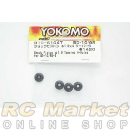 YOKOMO B10-S104T Short Piston Φ1.0mm Tapered 4-Holes for BD10/9