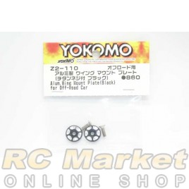 YOKOMO Z2-110 Aluminum Wing Mount Plate (Black) for Off-Road