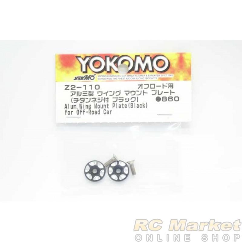 YOKOMO Z2-110 Aluminum Wing Mount Plate (Black) for Off-Road