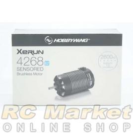 HOBBYWING 30401905 Xerun 4268 Sensored Brushless Motor G2 2600KV - Black Onroad & GT