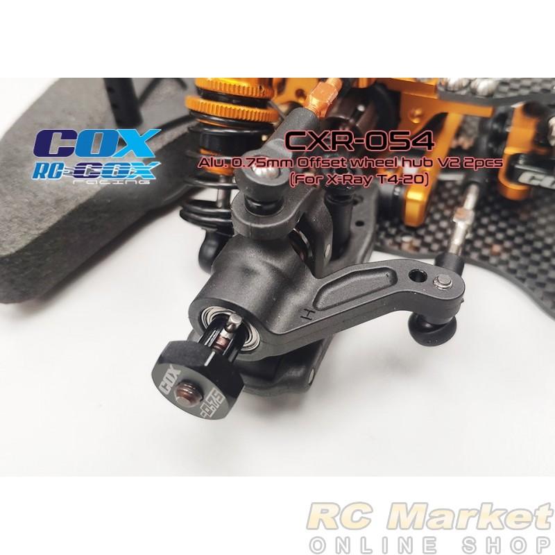 RC-COX CXR-054 Alu. 0.75mm Offset Wheel Hub V2 2pcs (For Xray T4'16~20)