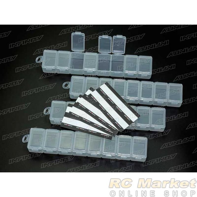 INFINITY A0076 Small Parts Case (8 Compartments / 4 pcs)