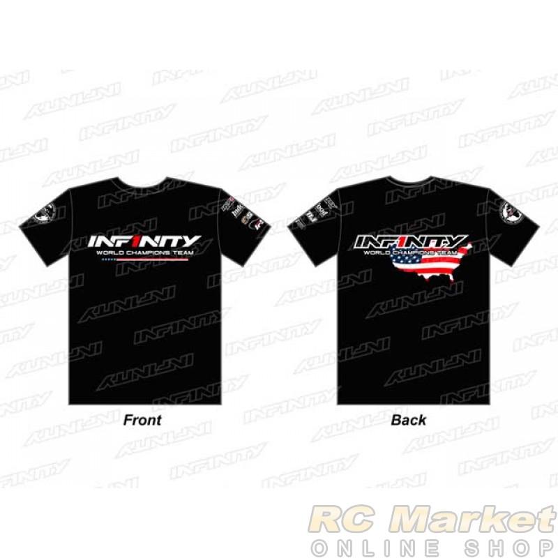 """INFINITY A0070-BK-L 2019 Team """"U.S.A."""" T-Shirt (BK) L Size"""