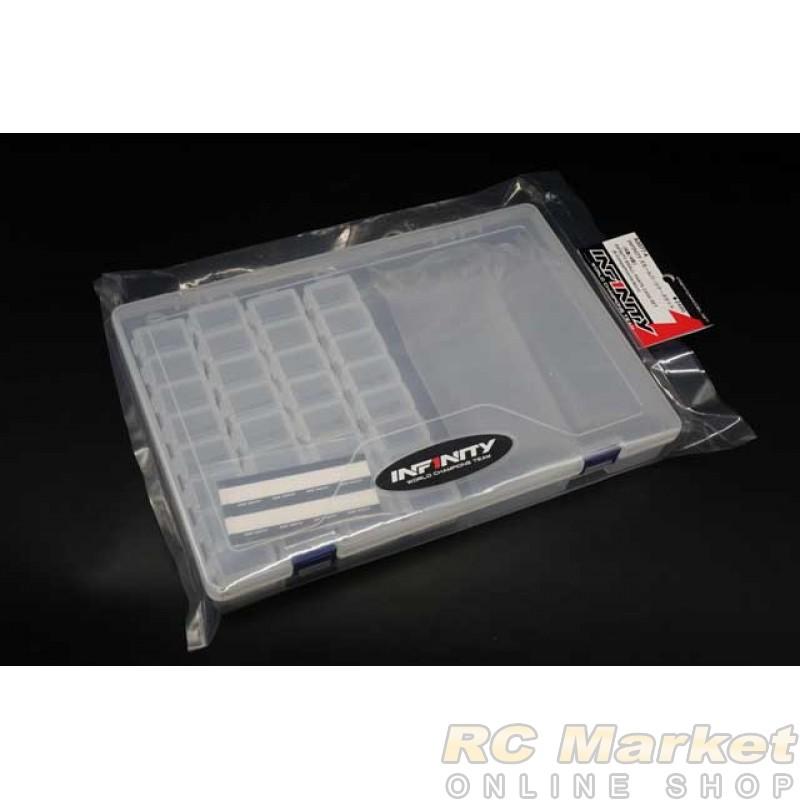 INFINITY A0077-4 Small Parts Case Set  (8 Compartments / 4 pcs)