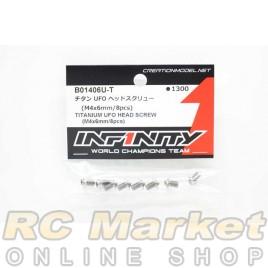 INFINITY B01406U-T Titanium UFO Head Screw (M4x6mm / 8 pcs)