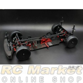 BLAZE BRC-120022 R3-CR 1/10 On-Road (Mid Motor) Electric Touring Car 4wd, Carbon Fiber