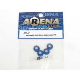 ARENA ABM-6B Adjustable Body Mount Set 6mm Blue (4)